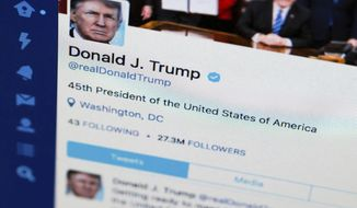 President Trump's Twitter feed. (Associated Press/File)