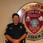 Cpl. Monty Dale Platt, a West Texas A&M University police officer, is shown here. On Aug. 8, 2017, Platt died from complications from medication taken to prevent infection from a feral cat bit he suffered while responding to a call. He leaves behind a wife and son. (West Texas A&M Police Department/Facebook) [https://www.facebook.com/wtamu.police/photos/a.232132270214006.52170.144522172308350/1463980897029131/?type=3&theater]