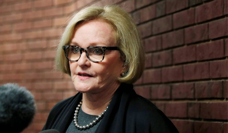 Sen. Claire McCaskill, Missouri Democrat, is up for re-election in 2018 and faces an upstart from within her own party.  (AP Photo/Jeff Roberson, File)