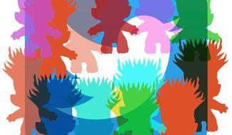 "Illustration on blocking social media ""trolls"" by Alexander Hunter/The Washington Times"