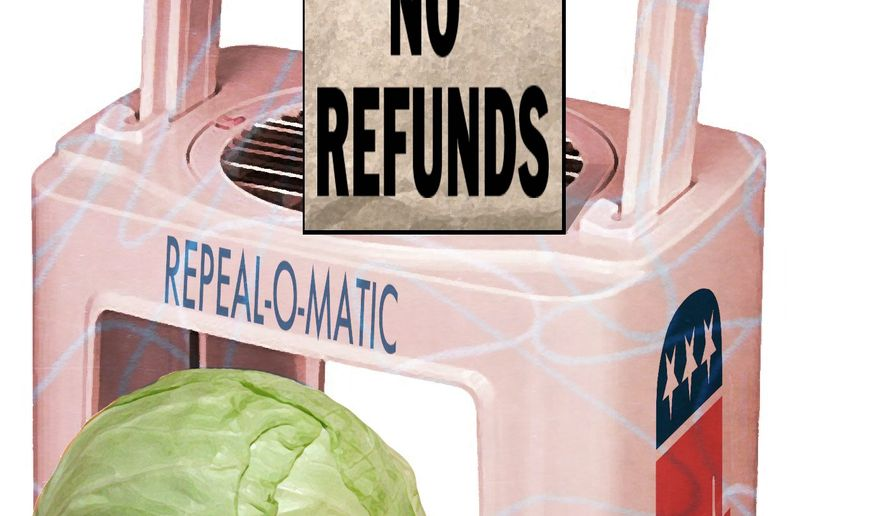 Illustration on failed political promises by Alexander Hunter/The Washington Times