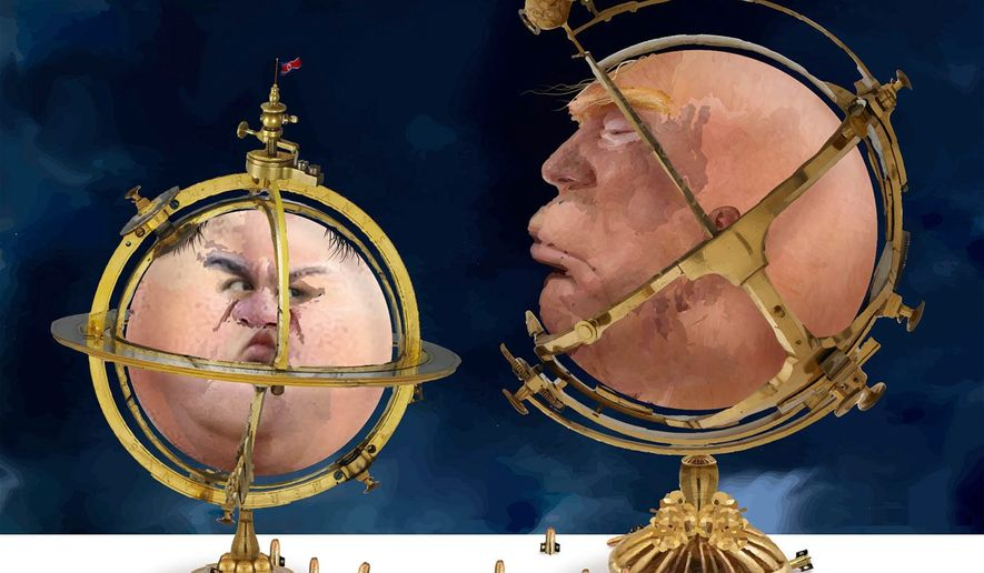 Illustration on the challenge for Trump posed by North Korea by Nancy Ohanian/Tribune Content Agency