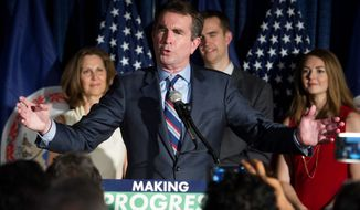 "While both candidates for governor denounced white nationalists, Lt. Gov. Ralph Northam, (top center) went a step further and criticized President Trump. ""This denouncement is too little, too late,"" he said of the president. Mr. Gillespie (center bottom) was optimistic about Virginia's ability to tackle hate groups. ""We have stared down racism, and Nazism and white supremacy before, and we will stare it down again,"" Mr. Gillespie said.
