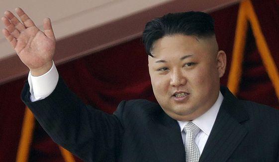 In this April 15, 2017, file photo, North Korean leader Kim Jong Un waves during a military parade in Pyongyang, North Korea. (AP Photo/Wong Maye-E, File)