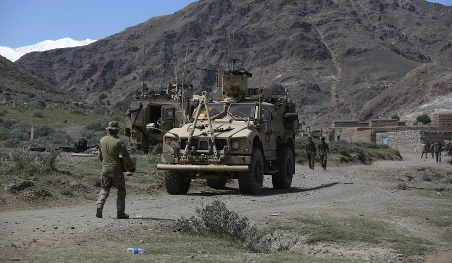 "As American forces and national commandos continue to battle in Afghanistan, the Taliban have sent an ""open letter"" to President Trump reiterating calls for U.S. troops to leave the country after 16 years of war. (Associated Press)"