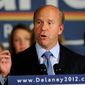 In this Nov. 6, 2012, file photo, John Delaney, Democratic challenger for Maryland's 6th Congressional District, speaks at an election night victory party in Potomac, Md. (AP Photo/Nick Wass, File)