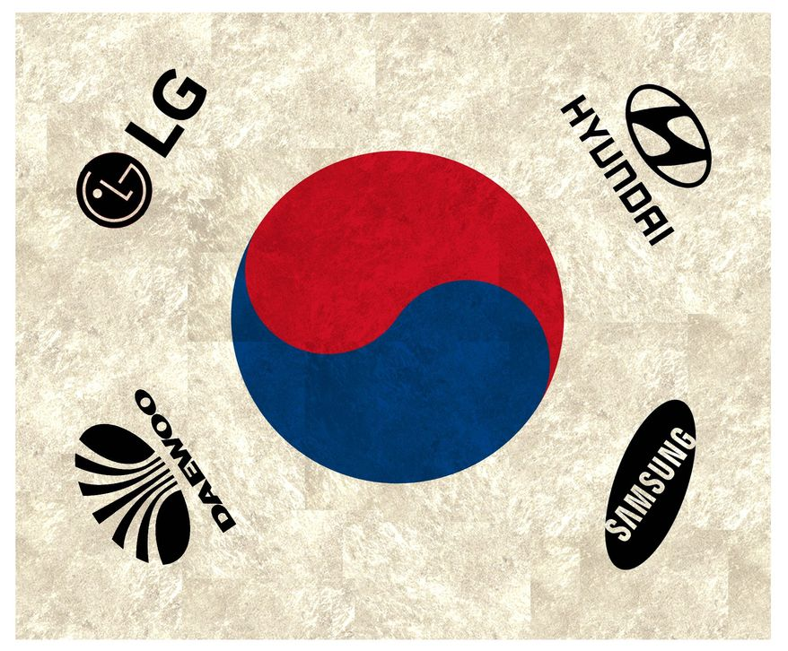 Illustration on the South Korean economy by Alexander Hunter/The Washington Times