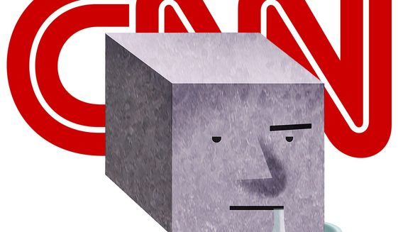 "Illustration on CNN and ""the moron vote"" by Alexander Hunter/The Washington Times"