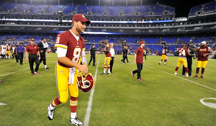 Redskins quarterback Kirk Cousins was denied three top targets in training camp with injuries to tight end Jordan Reed, and receivers Jamison Crowder and Josh Doctson (Associated Press)