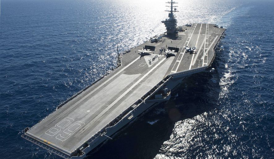 The USS Gerald Ford         U.S. Navy