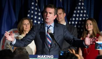 "While both candidates for governor denounced white nationalists, Lt. Gov. Ralph Northam, (top center) went a step further and criticized President Trump. ""This denouncement is too little, too late,"" he said of the president. Mr. Gillespie (center bottom) was optimistic about Virginia's ability to tackle hate groups. ""We have stared down racism, and Nazism and white supremacy before, and we will stare it down again,"" Mr. Gillespie said."