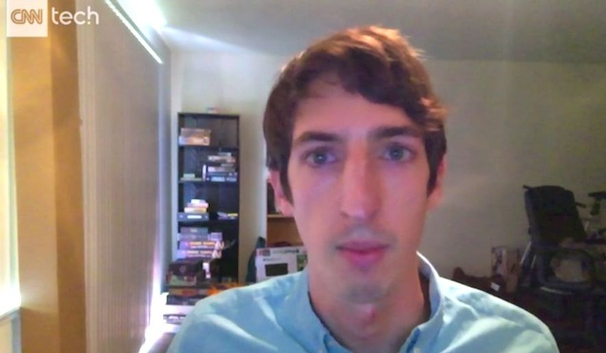"Former Google engineer James Damore told CNN Tech on Aug. 15, 2017, that critics are portraying him as a ""Nazi"" for writing ""Google's Ideological Echo Chamber,"" the internal diversity memo that resulted in his firing. (CNN Tech screenshot)"