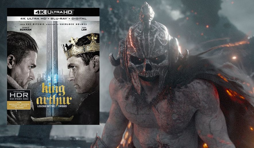 """A demon attacks Arthur Pendragon in """"King Arthur: Legend of the Sword,"""" now available on 4K Ultra HD from Warner Bros. Home Entertainment."""