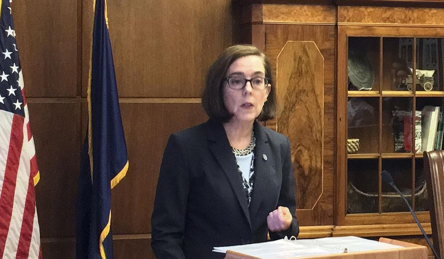 In a Nov. 17 letter to Gov. Kate Brown, the Oregon Health Authority (OHA) documented the myriad ways in which the agency tasked with managing the state's $9.3 billion Medicaid program has wasted or misallocated taxpayer dollars. (Associated Press) **FILE**