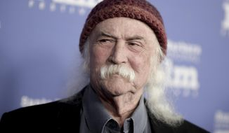 In this Feb. 2, 2017, file photo, David Crosby attends the Maltin Modern Master Award ceremony at the 32nd Santa Barbara International Film Festival in Santa Barbara, Calif. (Photo by Richard Shotwell/Invision/AP, File)