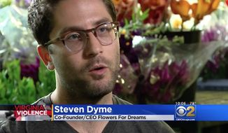 Steven Dyme, co-founder and CEO of Flowers for Dreams, a Chicago flower shop, has started requiring potential customers to reject Naziism and white nationalism before they're allowed to place an order. (CBS Chicago)