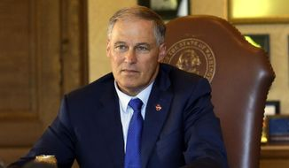 Washington Gov. Jay Inslee, who is helping lead a coalition of 14 states and Puerto Rico at the Bonn climate summit, is one of the Democratic governors with a kind of shadow staff supplied by advocacy groups. (Associated Press/File)