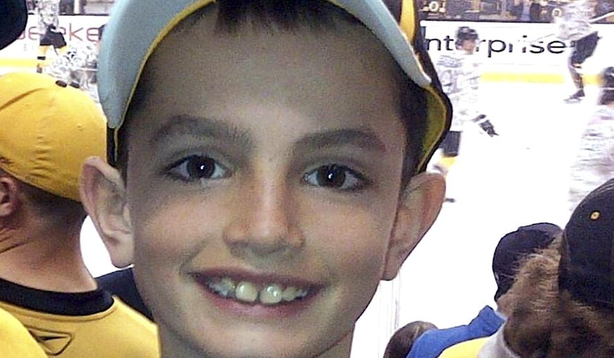 This undated file photo provided by Bill Richard shows his son, Martin Richard, in Boston. Martin was 8 years old when he was killed by the second of two bombs that exploded near the Boston Marathon finish line on April 15, 2013. An official groundbreaking for a park named in honor of the young bombing victim, will be held on Wednesday, Aug. 16, 2017, in Boston. (Bill Richard via AP, File)
