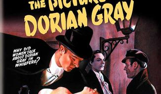 """Promotional art for the 1945 film adaptation of Oscar Wilde's """"The Picture of Dorian Gray"""" (IMDb.com)"""