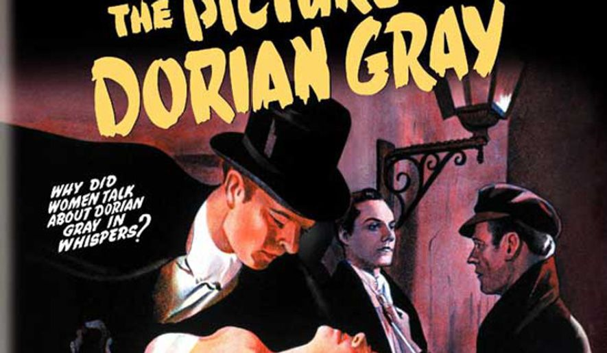 "Promotional art for the 1945 film adaptation of Oscar Wilde's ""The Picture of Dorian Gray"" (IMDb.com)"