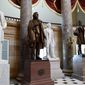 A statue of Jefferson Davis (second from left), president of the Confederate States from 1861 to 1865, is on the list for removal from Statuary Hall in the U.S. Capitol. (Associated Press/File)