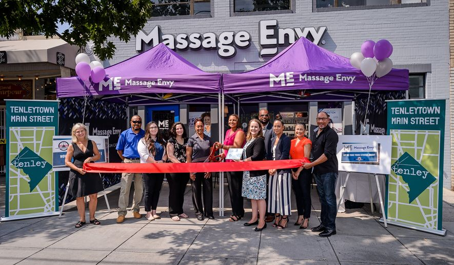 The Tenleytown location of Massage Envy officially opened Thursday in Northwest. 