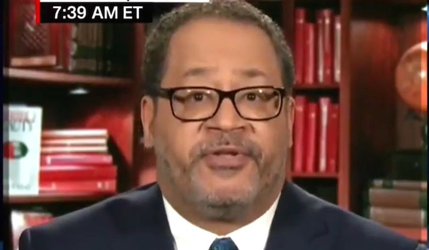 "Georgetown University sociology professor Michael Eric Dyson told a CNN panel on Aug. 16, 2017, that left-wing anti-fascist (Antifa) protesters are seeking to ""preserve the fabric of America."" (Image: CNN screenshot)"