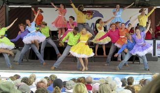 The Kids From Wisconsin have been a steady act at the Wisconsin State Fair for 49 years. The troupe of 35 singers, dancers and musicians from throughout the state performed Thursday, Aug. 10, 2017, at the Wisconsin State Fair. (Barry Adams/Wisconsin State Journal via AP)