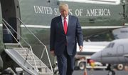 In this Aug. 14, 2017, file photo, President Donald Trump walks across the tarmac from Marine One to board Air Force One at Morristown Municipal Airport in Morristown, N.J. Bombarded by the sharpest attacks yet from fellow Republicans, President Donald Trump on Thursday, Aug. 17, 2017, dug into his defense of racist groups by attacking members of own party and renouncing the rising movement to pull down monuments to Confederate icons. (AP Photo/Pablo Martinez Monsivais, File)