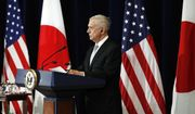 Defense Secretary James Mattis listens during a news conference with Japanese officials, Thursday, Aug. 17, 2017, at the State Department in Washington. (AP Photo/Jacquelyn Martin)
