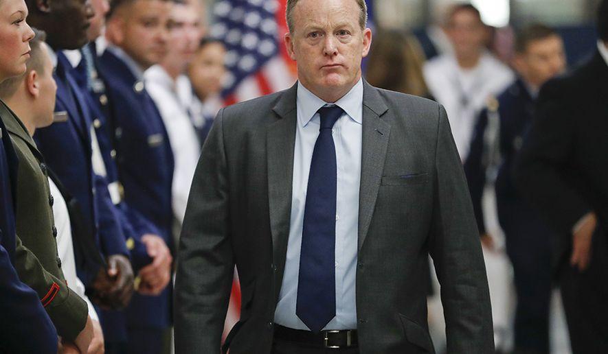 Sean Spicer (AP Photo/Pablo Martinez Monsivais)