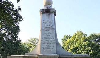 Confederate Soldiers and Sailors Monument (Indianapolis) in Garfield Park, Indianapolis. Photo in the public domain via a Creative Commons license (Wikimedia).