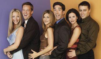 FRIENDS: Lisa Kudrow, Matthew Perry, Jennifer Aniston, David Schwimmer, Courteney Cox and Matt Le Blanc. (NBC & Warner Bros.)