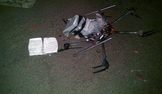 Mexican cartels are turning to drones to smuggle lightweight drugs like heroin and cocaine over the U.S. border rather than using tunnels. (Associated press)