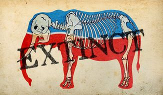 The Extinction of the Republican Party Illustration by Greg Groesch/The Washington Times