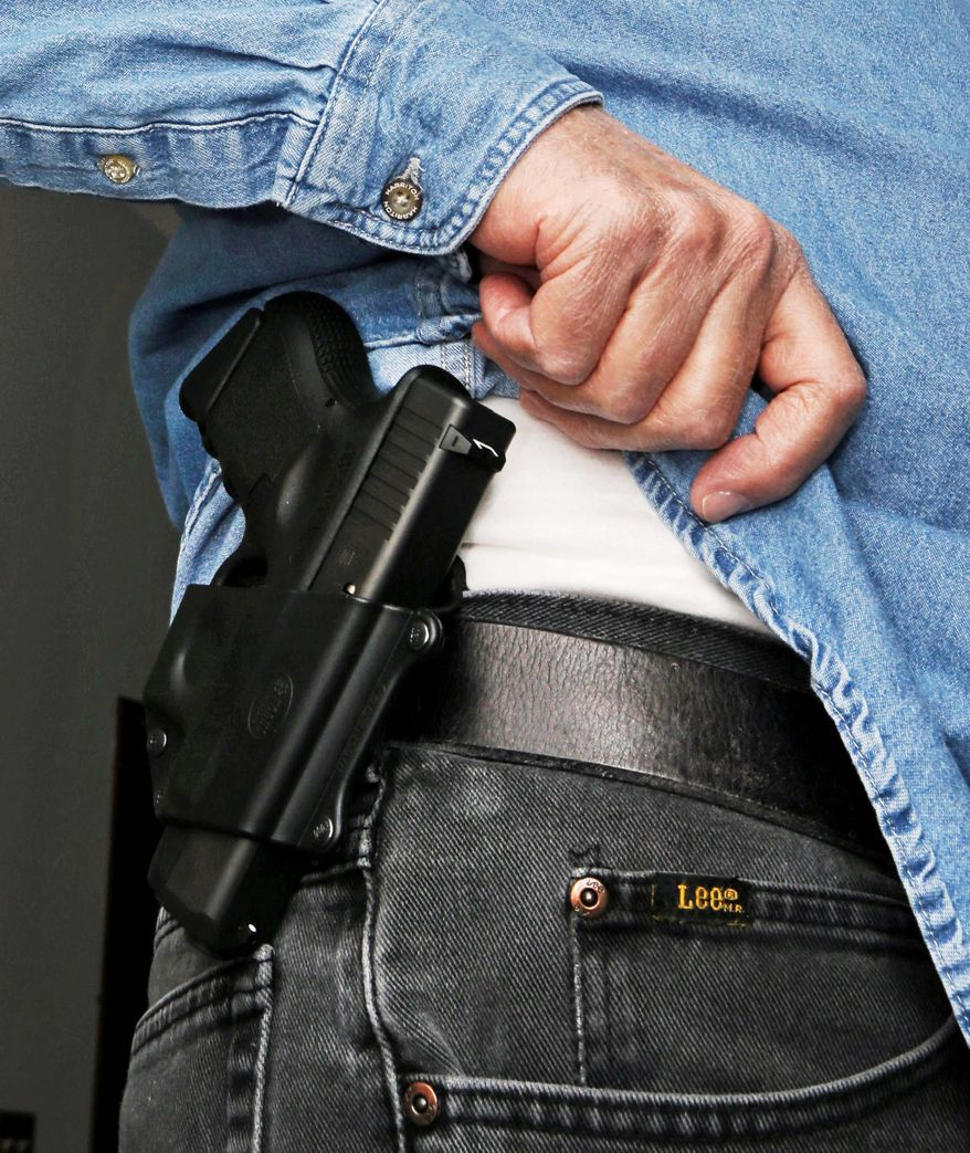 Some 1.83 million new concealed weapon permits were issued in 2016, setting a new record for the fourth straight year, according to the Crime Prevention Research Center. This surge comes as the number of gun purchases have dropped, on a year-to-year basis. (Associated Press)