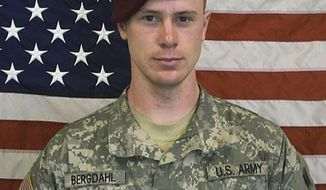 FILE - This undated file image provided by the U.S. Army shows Sgt. Bowe Bergdahl. Bergdahl is choosing be tried by a judge, not a military jury, on charges that he endangered comrades by walking off his post in Afghanistan. He faces charges of desertion and misbehavior before the enemy at his trial scheduled for late October 2017.  (U.S. Army via AP, file)