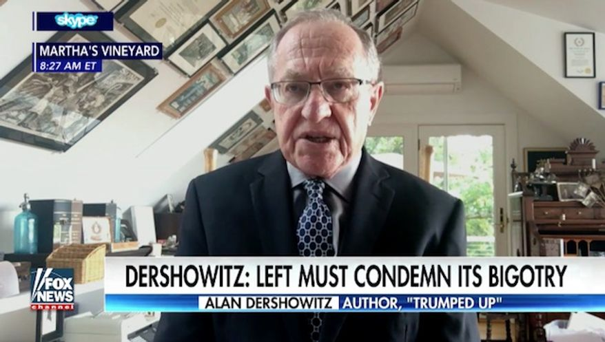 Prominent Harvard law professor and liberal author Alan Dershowitz rebuked the hard left militant movement Antifa on Tuesday, saying liberals need to avoid turning violent leftist factions into heroes. (Fox News) ** FILE **