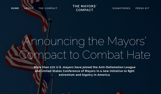 Screen grab from the website for The Mayors' Compact, a joint project of the Anti-Defamation League and the U.S. Conference of Mayors. (MayorsCompact.org)