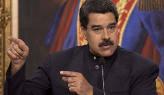 "In a case of extreme and inaccurate vilification, Veneauelan President Nicolas Maduro said: ""You saw the measures Donald Trump announced restricting all people of Venezuela from entry to the United States [and] calling the people of Venezuela 'terrorists'"""