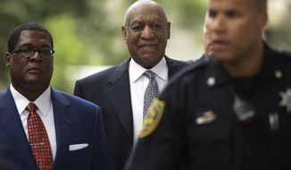 Bill Cosby arrives at a pretrial hearing in his sexual assault case at the Montgomery County Courthouse in Norristown, Pa., Tuesday, Aug. 22, 2017. (AP Photo/Matt Rourke)