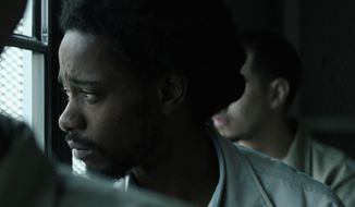 """This image released by IFC Films shows Lakeith Stanfield in """"Crown Heights."""" (IFC Films via AP)"""