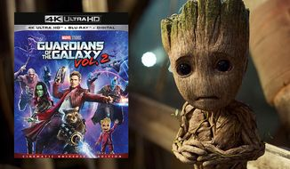 """Baby Groot stars in """"Guardians of the Galaxy Vol. 2: Cinematic Universe Edition,"""" now available on 4K Ultra HD from Walt Disney Studios Home Entertainment."""
