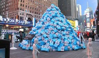 Times Square sugar display by the KIND Snacks corporation.