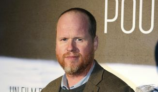 """American film producer and director Joss Whedon attends a screening of """"Much Ado About Nothing"""" in Paris, Jan. 21, 2014. His ex-wife Kai Cole alleged in an essay published by The Wrap on Aug. 20, 2017, that Whedon had multiple affairs during their 16-year marriage. (AP Photo/Remy de la Mauviniere) ** FILE **"""