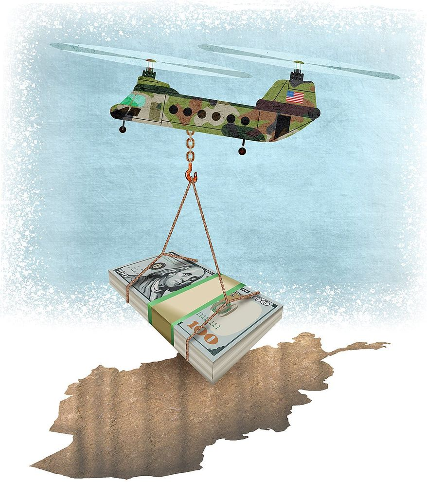 The Bottomless Pit of Afghanistan Illustration by Greg Groesch/The Washington Times