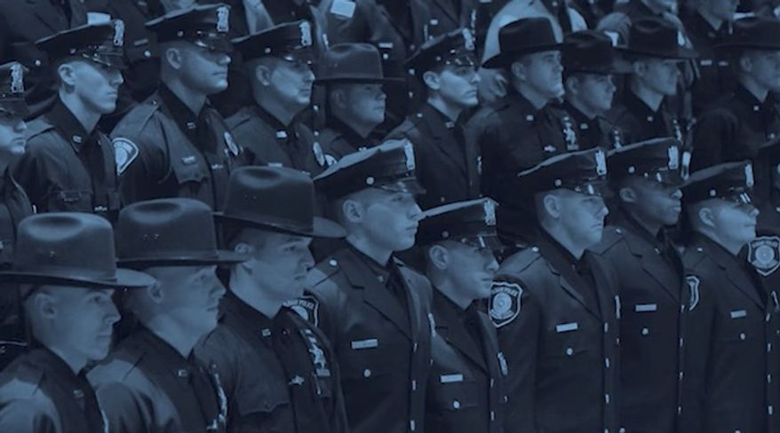 """A video released by a New York City Police Department sergeants' union claiming police officers have become the target of """"blue racism"""" has sparked backlash. (NYPD Sergeants Benevolent Association)"""