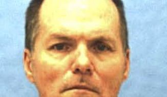 CORRECTS EXECUTION DATE TO AUG. 24 - This undated photo provided by the Florida Department of Corrections shows Mark Asay. If his final appeals are denied, Asay is to die by lethal injection after 6 p.m. Thursday, Aug. 24, 2017. Asay was convicted by a jury of two racially motivated, premeditated murders in Jacksonville in 1987.  (Florida Department of Corrections via AP)