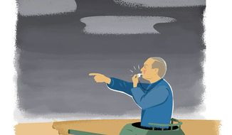 Russia Military Exercises Illustration by Linas Garsys/The Washington Times