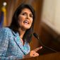 U.N. Ambassador Nikki Haley has Indian heritage. She is one of several examples of prominent people of color in the Republican Party. (Associated Press)